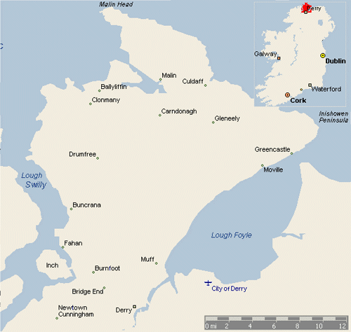 Map of Inishowen / Derry